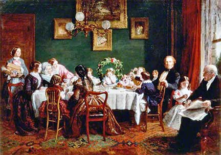 Comedor de una familia tradicional