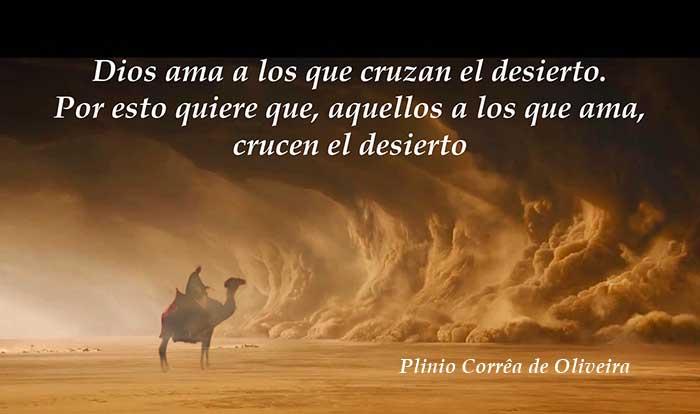 La vida tiene sus desiertos que es necesario cruzar con determinación