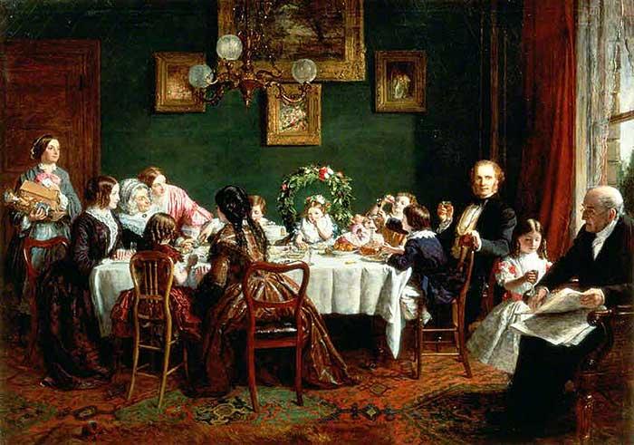 Familia tradicional respeto a abuelos