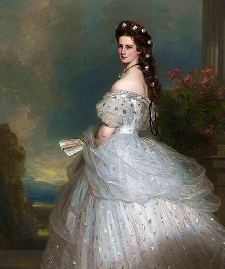 Elisabeth de Austria, su belleza fue comparada a un cisne, cuadro de Winterhalter