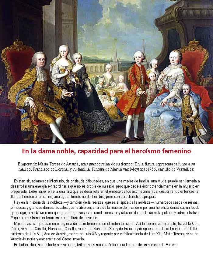 La Emperatriz de Austria María Teresa con su familia