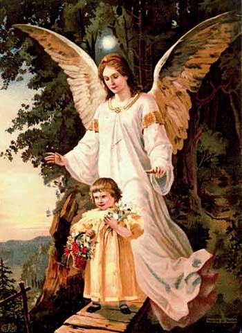 El Angel de la Guarda, es representado como un ser bueno pero desfibrado