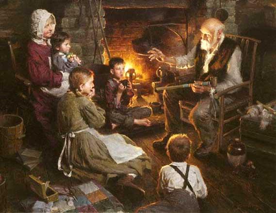 Los abuelos antiguos eran afables, solícitos y sabios consejeros para cada familia