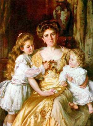La madre ama a sus hijos