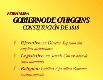 Resultado de imagen para constitución de 1818 chile
