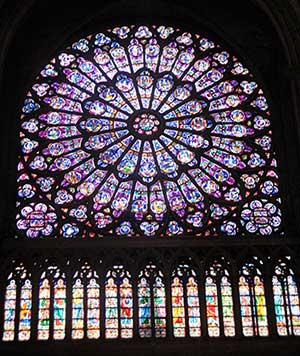 Rosásea de la Catedral de Notre Dame de París