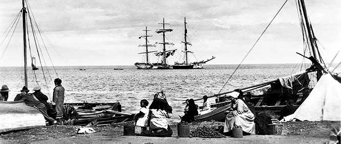 Pescadores y aventuras de los chilenos