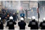 Bélgica protestas contra pacto de migraciones de ONU
