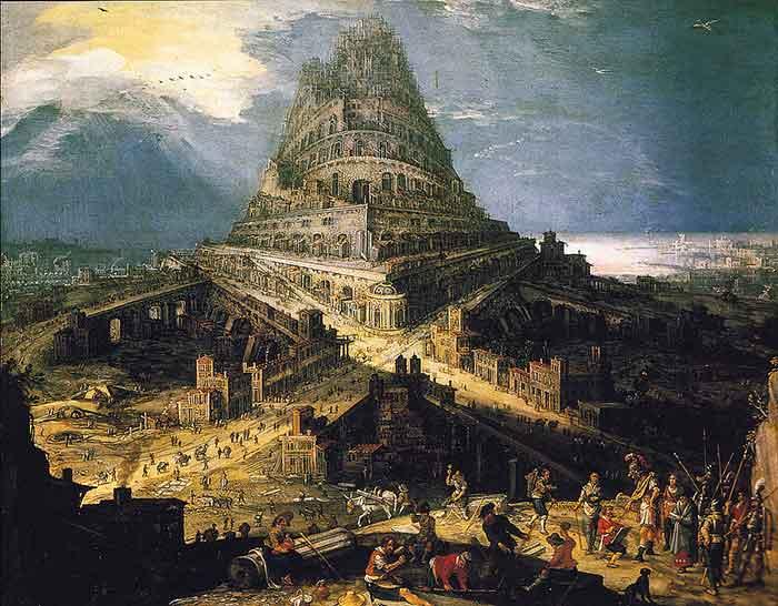 la orgullosa torre de Babel, que el neopaganismo intenta re-erguir de todos los modos