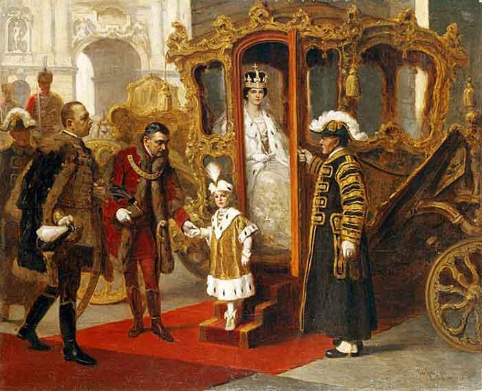 Coronación de Carlos I y Zita como reyes de Hungría