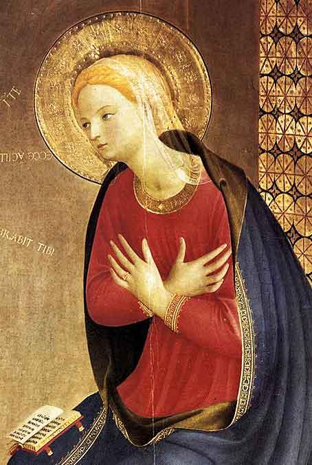 Fra Angélico pintó lo celeste