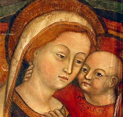 En la imagen de Nuestra Señora del Buen Consejo de Genazzano destaca la intimidad con su HIjo