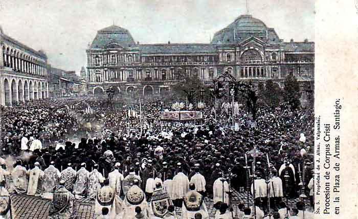 El Chile del ayer manifestaba su fe en las calles de sus ciudades