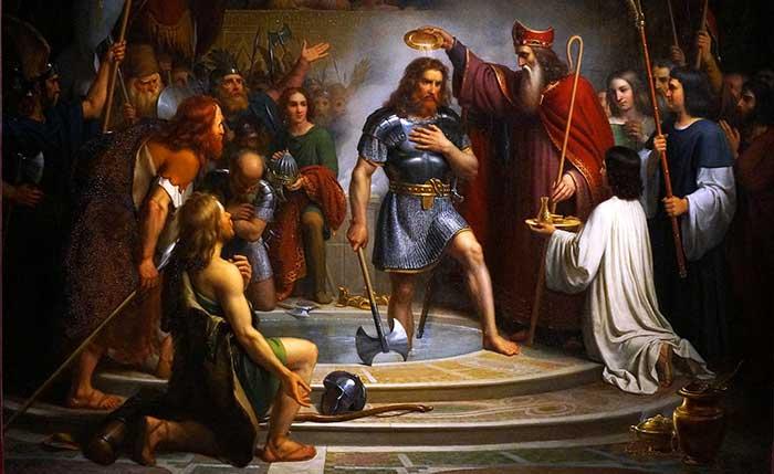 San Remigio convirtió al bánbaro Clodoveo, que fue la semilla de la Cristiandad