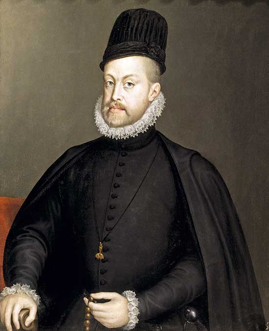 Felipe II refleja las cualidades del pueblo español