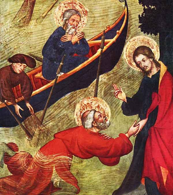 La desconfianza hizo que San Pedro se hundiera cuando fue al encuentro de Jesús