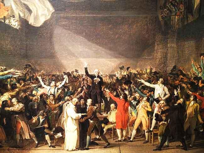 Juramento del Jeu de Paume durante la Revolución francesa