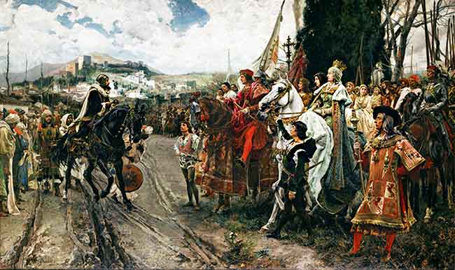 Rendición de Granada Boabdil a Isabel la Católica