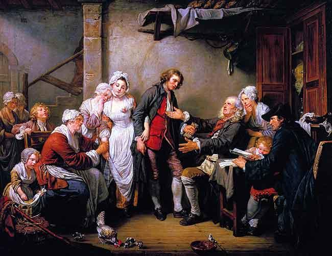 La familia antes de la Revolución francesa