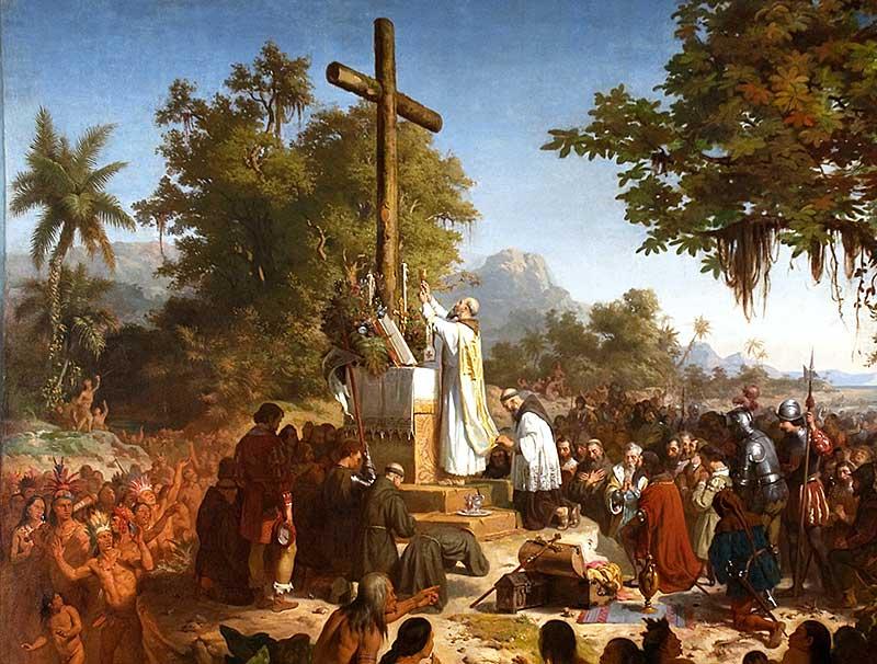 La primera misa en Brasil