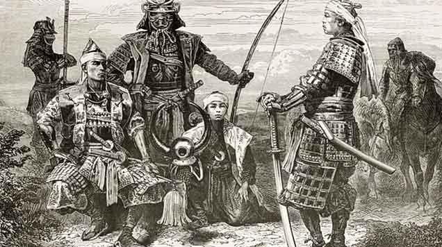 la nobleza inferior de los samurais la que se tornó legendaria por un coraje extraordinario