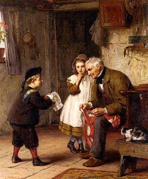 La sorpresa que el nieto da a su abuelo
