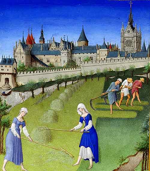 Les Belles Heures de Jean de Berry contiene oraciones para ser dichas por los fieles laicos