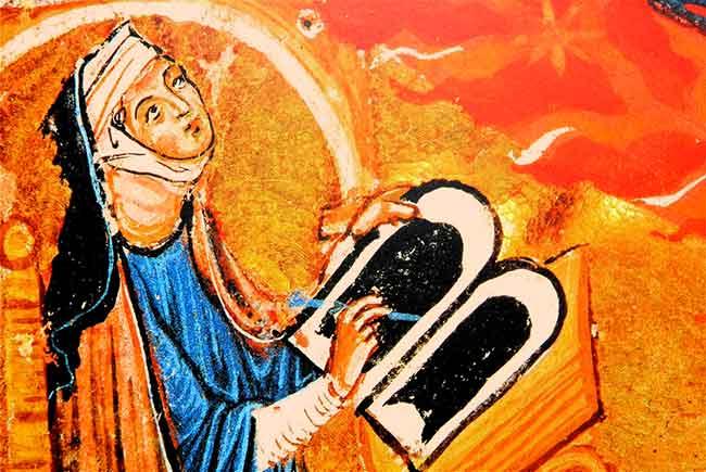 Santa Hildegarda von Bingen: Abadesa, líder monástica, mística, profetisa, médica, compositora y escritora alemana del Siglo XII fue proclamada Doctora de la Iglesia.
