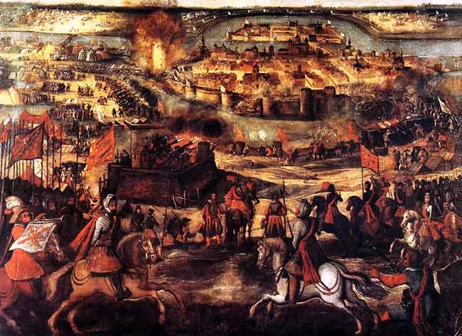 El sitio de Maastricht,  En el año 1579 los tercios españoles sitiaron durante casi cuatro meses, y finalmente tomaron la ciudad
