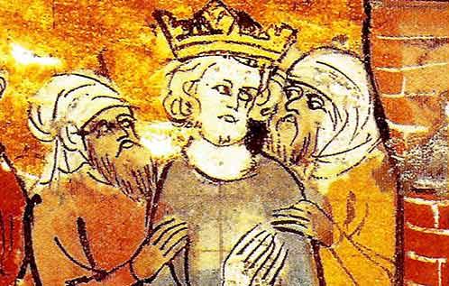 San Luis Rey arbitrando entre los moros