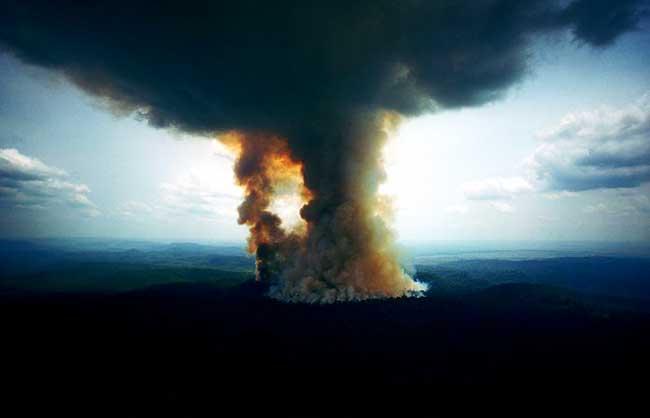 Fotos impresionantes del incendio han invadido Internet