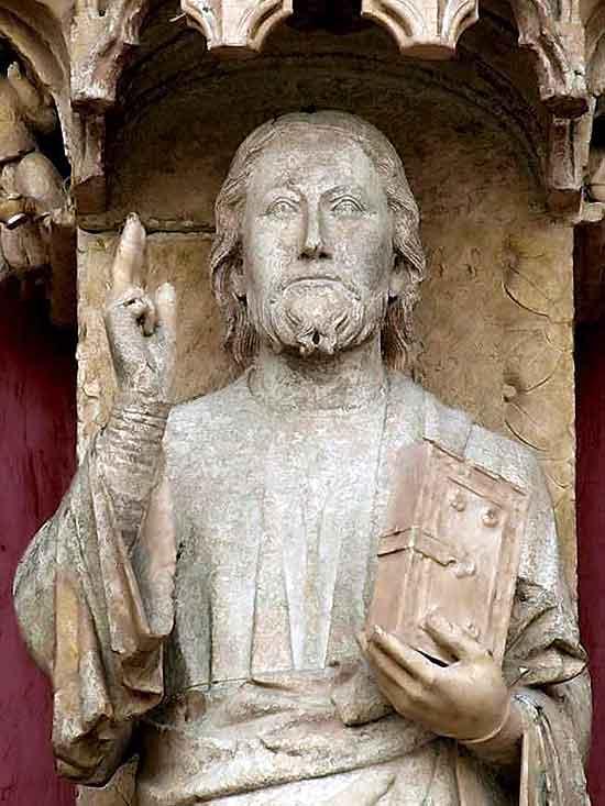Cristo enseñando Catedral de Amiens