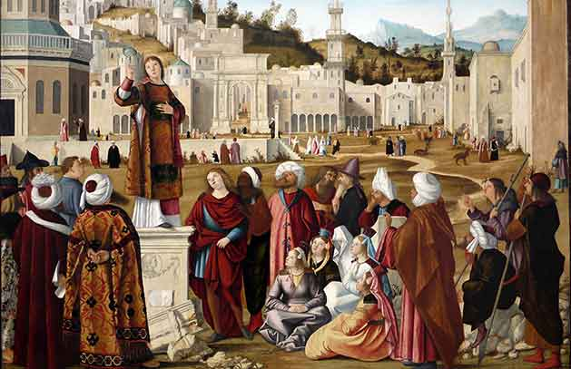 San Esteban predicando en Jerusalén, Carpaccio