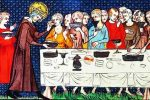 Rey San Luis sirviendo a los pobres