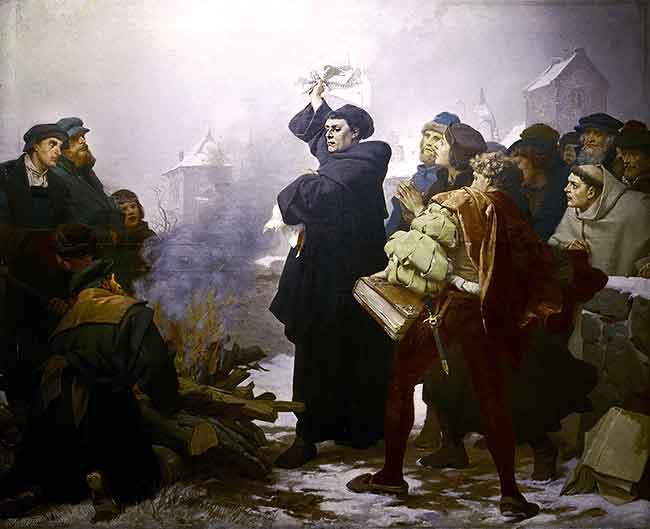 Lutero quema la bula papal
