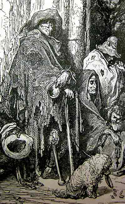 Mendigos españoles Gustave Doré