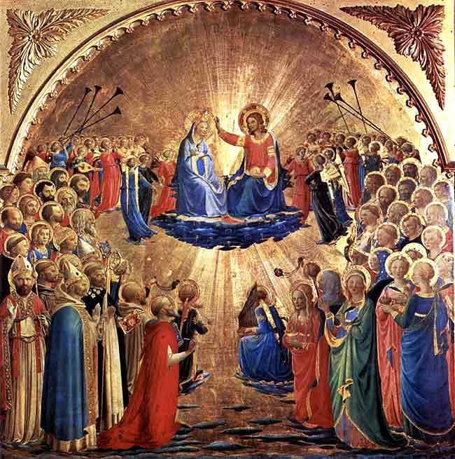 Coronación de la Virgen de Fra Angélico