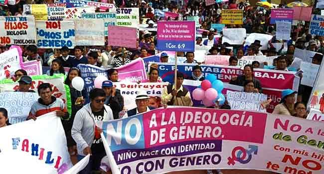 Marcha contra ideología de género en Perú
