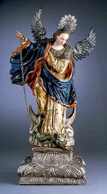 Imagen de la Inmaculada Concepción aplastando al demonio
