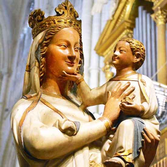Virgen Blanca de la Catedral del Toledo, Eapaña