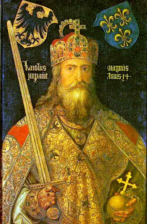 La figura majestuosa del Emperador Carlomagno