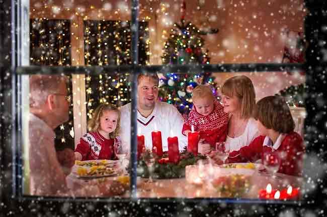 Cena familiar de navidad