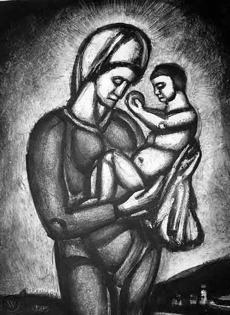 La Virgen y el NIño según Rouault