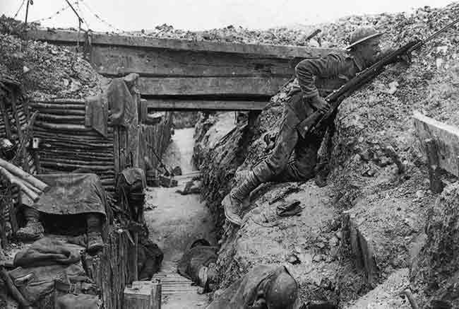 La guerra de trincheras en la I Guerra Mundial