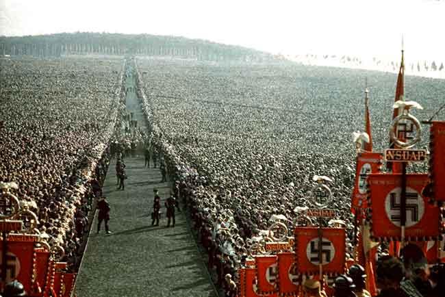 Manifestación masiva nazi