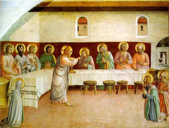 Comunión de los Apóstoles en la Ultima Cena