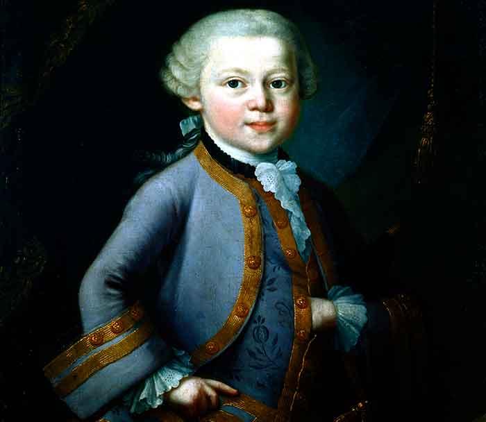 Wolfgang Amadeus Mozart, niño prodigio