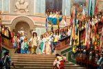 Luis XIV recibe al Príncipe de Condé
