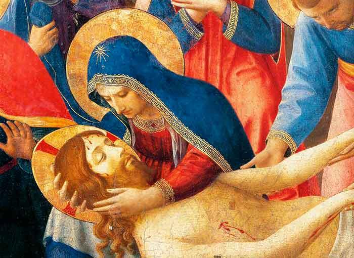 La Santísima Virgen contempla a su Hijo muerto