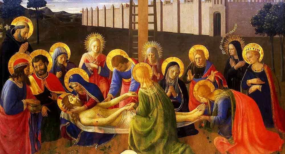 Jesús es colocado en el Sepulcro. Comienzan todas las dedicaciones